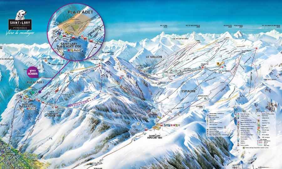 Plan station ski Saint Lary